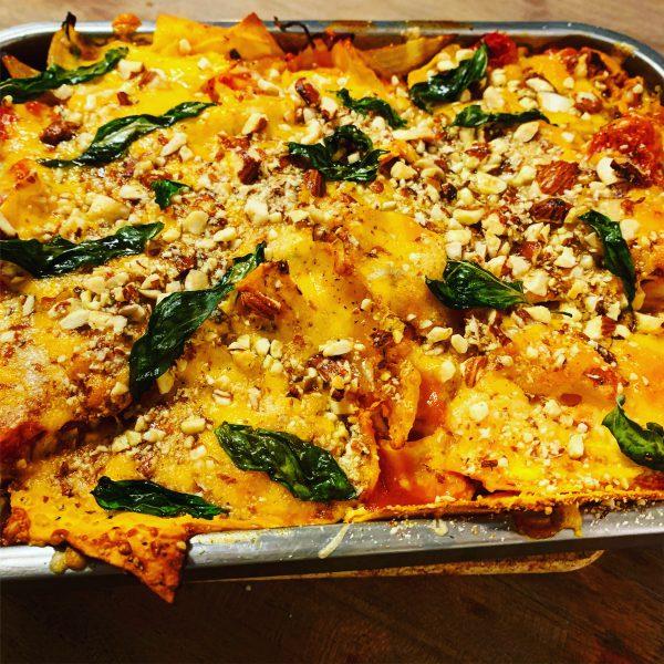 Sloppy lasagna van aubergine